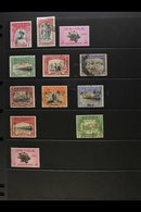 1945-49 ALL DIFFERENT FINE USED GROUP  Includes 1947 ½a Bicent, 1948 1½a Multan, Officials Incl 1945 (1 Mar) ½a, 1a, And - Bahawalpur