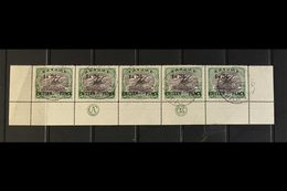 1931  1s3d On 5s Black And Deep Green, SG 123, Complete Lower Row Of The Sheet Showing JBC Imprint, Fine Port Moresby Cd - Papua New Guinea