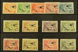 """1931  Air Mail Overprint Set On """"Huts"""" Issue Complete, SG 137/49, 1s Hinge Thin Otherwise Very Fine And Fresh Mint. (13  - Papua New Guinea"""