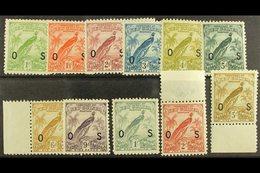 1931 OFFICIAL  Complete Set, SG O31/41, Fine Mint. (11) For More Images, Please Visit Http://www.sandafayre.com/itemdeta - Papua New Guinea