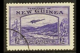 """1935  £2 Bright Violet """"Bulolo Goldfields"""", SG 204, Very Fine And Fresh Used. For More Images, Please Visit Http://www.s - Papua New Guinea"""