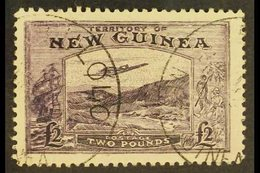 """1935  A Seldom Seen £2 Bright Violet Shade (as SG 204) """"Bulolo Goldfields"""" Air Postage FORGERY Attributed To Panelli Wit - Papua New Guinea"""