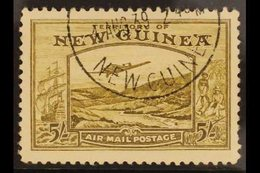 """1939  5s Olive Brown """"Bulolo Goldfields"""" Air Post, SG 223, Cds Used For More Images, Please Visit Http://www.sandafayre. - Papua New Guinea"""