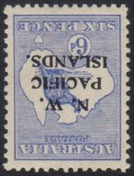 N.W.P.I.  1915-16 6d Ultramarine Roo, Watermark Inverted SG 78w, Very Fine Mint.  For More Images, Please Visit Http://w - Papua New Guinea