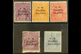 NWPI  1918-23 Heads Watermark Type W5 Overprints Complete Set, SG 120/24, Very Fine Used, Fresh. (5 Stamps) For More Ima - Papua New Guinea