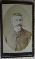 Photo  Ancienne - CDV - Portrait Homme Moustache Bacchantes - Solon Vathis - Paris - Photographs