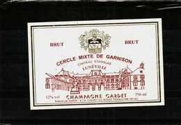 Etiquette - Champagne  Brut CERCLE MIXTE DE GARNISON Chateau Stanislas à LUNEVILLE - Champagne