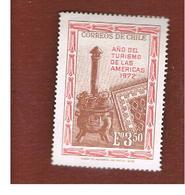 CILE (CHILE)  -  SG 704  -  1972 TOURIST YEAR   -  MINT** - Cile