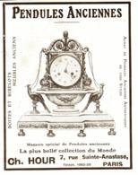 "PUB PENDULES ANCIENNES   "" CH. HOUR  ""   1913  ( 5 ) - Clocks"