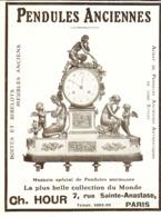 "PUB PENDULES ANCIENNES   "" CH. HOUR  ""   1913  ( 7 ) - Clocks"