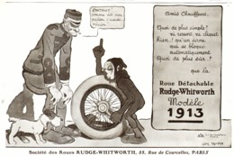 """PUB ROUES   """" RUDGE-WHITWORTH  """"  Par  GUS . BOFA   1913 ( 1 ) - Cars"""