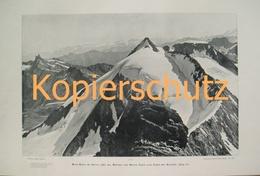 011-2 Sella: Mont Blanc De Seilon Riesendruck 1902!! - Historische Dokumente