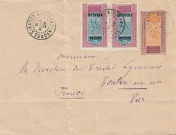 Soudan Sikasso Entier Méhariste + Complément Lettre Cover 1929 Stationary Ganzsache Entero Rare ! - Covers & Documents