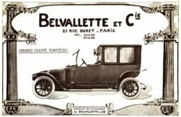 """PUB VEHICULES  """" BELVALETTE Et Cie  """"   1913 ( 2 ) - Transportation"""