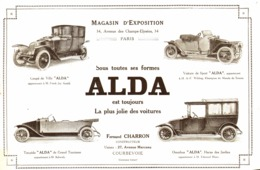 "PUB VEHICULES "" ALDA "" De "" FERNAND CHARRON "" 1913 ( 1 ) - Transportation"