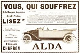 "PUB VEHICULES "" ALDA "" De "" FERNAND CHARRON "" 1913 ( 2 ) - Transportation"