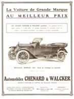 "PUB VEHICULES "" CHENARD & WALKER "" 1913 ( 6 ) - Cars"