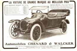 "PUB VEHICULES "" CHENARD & WALKER "" 1913 ( 7 ) - Cars"