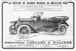 "PUB VEHICULES "" CHENARD & WALKER "" 1913 ( 8 ) - Cars"