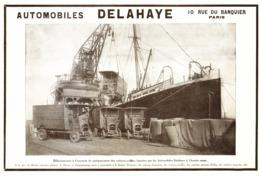 "PUB VEHICULES "" DELAHAYE ""  1913 ( 5 ) - Transportation"
