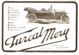 "PUB VEHICULES "" TURCAT MERY "" 1913 ( 2 ) - Transportation"