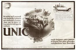 """PUB VEHICULES """" UNIC """"   1913 ( 14 ) - Cars"""
