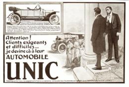 """PUB VEHICULES """" UNIC """"   1913 ( 15 ) - Cars"""