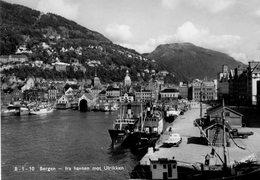 - NORGE. - BERGEN - Fra Havnen Mot Ulrikken - Scan Verso - - Norway
