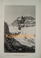 061-2 Sella: Meije Gletscher Etancons Riesendruck 1902!! - Historische Dokumente