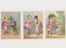 6 Chromos , Imp.de Casabianca Paris / Simonin Candillon, Chaussures  NEVERS / Fillettes , Poupées, Jeunes Gens - Chromos