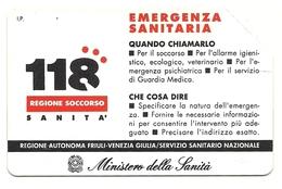 Italia - Tessera Telefonica Da 1.000 Lire N. 242 - 31/12/94 Emergenza - Italia