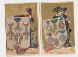 Maison Darvoy&Dumont , Grande -Rue  , La Charité ( Nièvre) / Médailles Danemark , Italie .Imp.Lessertsseux .Paris - Chromos