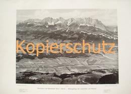 123-2 Kitzbüheler Horn Kitzbühel Panoramen Riesendrucke 1901!! - Historische Dokumente