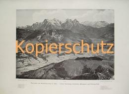 125-3 Kitzbüheler Horn Kitzbühel Panoramen Riesendruck 1901!! - Historische Dokumente