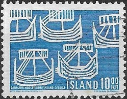 ICELAND 1969 50th Anniv Of Northern Countries' Union - 10k Viking Ships FU - Oblitérés