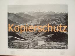 127-3 Kitzbüheler Horn Kitzbühel Panoramen Riesendruck 1901!! - Historische Dokumente