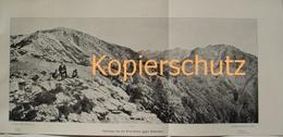 139 Panorama Dinarischen Alpen Albanien Großbild 1903!! - Historische Dokumente