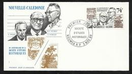 N.C.   Lettre Premier Jour Nouméa Le 3/11/1989 N°583  Soc. D'études Historiques G.Pisier -R.P.Nevret Et A.Surleau TB - Briefe U. Dokumente