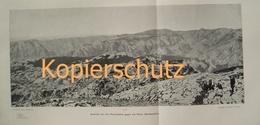 141 Panorama Dinarischen Alpen Albanien Großbild 1903!! - Historische Dokumente