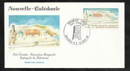 N.C.   Lettre Premier Jour Nouméa Le 18/11/1989 N°584  Fort Teremba Association Marguerite Sauvegarde Du Patrimoine  TB - Briefe U. Dokumente