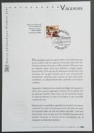 FDC Sur Document - YT N°3577 - Vacances - 2003 - FDC