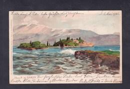 Carte Chromo Lithographie Isola Di Garda (Ottmar Zieher) - Italie