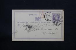 ROYAUME UNI - Entier Postal Commercial ( Repiquage Au Verso ) De Ryde Pour Londres En 1871 - L 27962 - Entiers Postaux