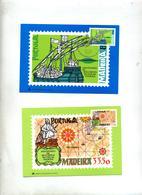 2 Carte Maximum 1981 Decouverte Madeire - Cartes-maximum (CM)