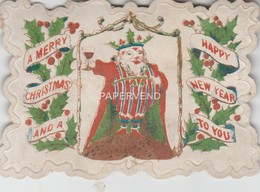 Christmas Card  Father Christmas Toasting  Egc367 - Vieux Papiers