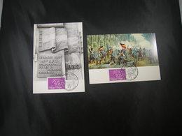 """BELG.1980 1961 FDC Maxicards 2 X Dif. : """" Belgie/Belgique 150 Jaar/ans """" - Maximum Cards"""
