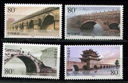 Chine ** N° 4070 à 4073 - Ponts Anciens  En Pierre - Unused Stamps
