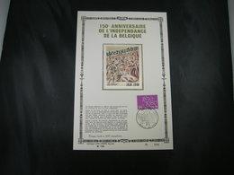 """BELG.1980 1961 FDC Fr. Gold/soie N°144/400 Ex  : """" Belgie/Belgique 150 Jaar/ans """" - 1971-80"""