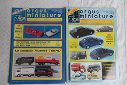 Argus Miniature Lot De 2 Numeros 1987 Ou 1988 Ou 1989 - Auto/Moto