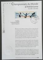 FDC Sur Document - YT N°3587 - Championnats Du Monde D'Athlétisme - 2003 - FDC